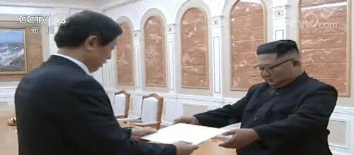 中리잔수, 김정은 만나 시진핑 친서 전달